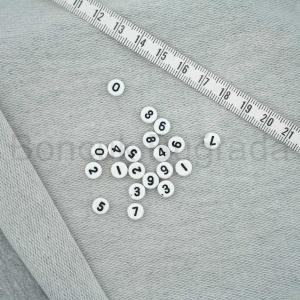 7 mm Beyaz Yassı Rakam