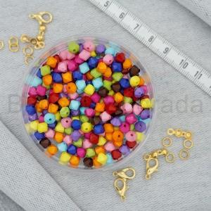 Plastik Renkli Boncuk
