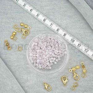 3 mm Kare Kristal Boncuk