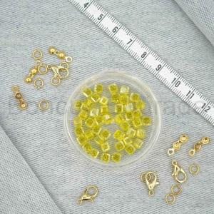 4 mm Kare Kristal Boncuk