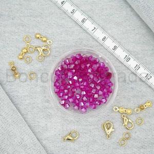 4 mm Piramit Kristal Boncuk