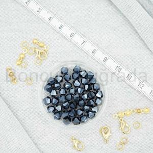 6 mm Piramit Kristal Boncuk