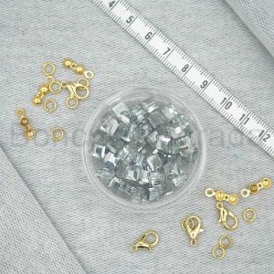 6 mm Kare Kristal Boncuk