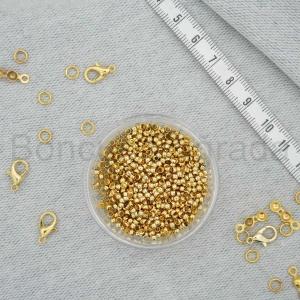 Altın Kaplama 2.5 mm Bit Boncuk