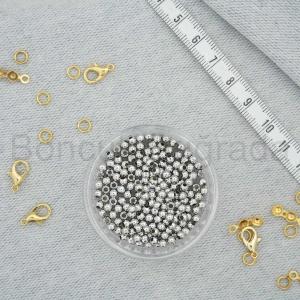Gümüş Kaplama 3 mm Metal Top